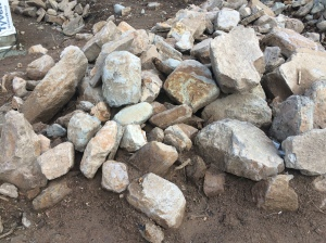 Rocks on the property